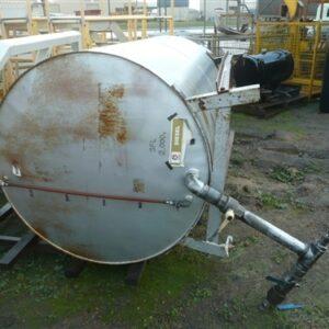 2000 Litre Round Diesel Tank
