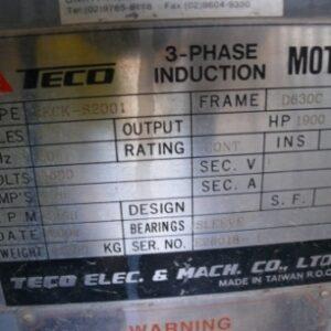 Teco 1900kw Electric Motor