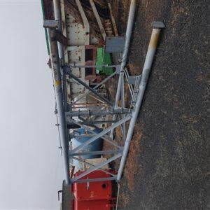 Steel silo on steel stand