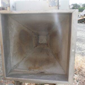 Stainless Steel Hopper 1.1m (L) x 750mm (W) x 850mm (H)