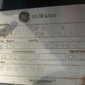 Oil & Gas Low Pressure Cap