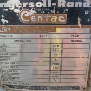 1981 Ingersoll Rand Centac Compressor