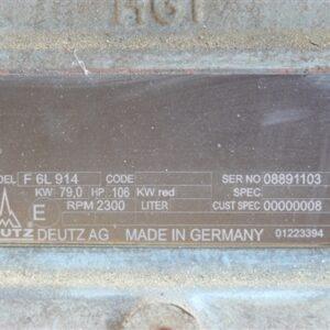 6 Cyl Duetz Air Cooled