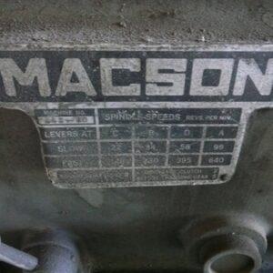 Macson Lathe