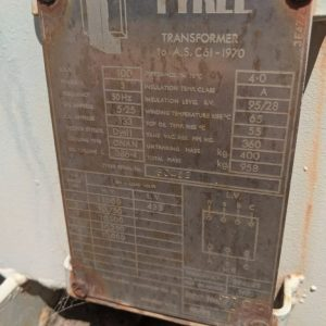 Tyree 100 KVA Transformer