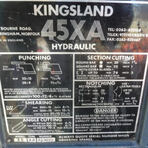 Kingsland 45t Ironworker
