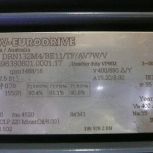 SEW-Eurodrive reduction gearbox and 7.5kw Electric Motor