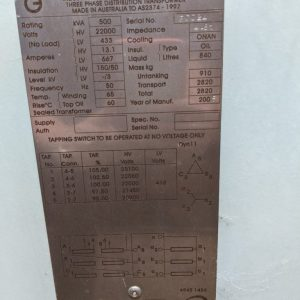 Merlin Gerin 500kva Transformer