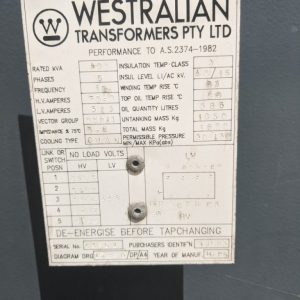Westralian 400 KVA Transformer