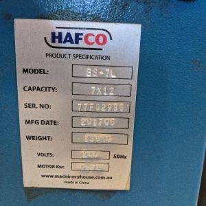 Hafco Horizontal Bandsaw
