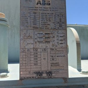 ABB 2500 kva Transformer