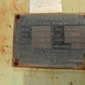34.99:1 Richardson Gearbox