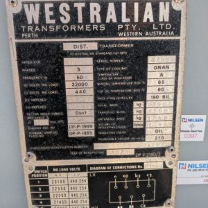 Westralian 1000 kva Transformer