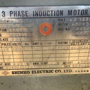 Shinko 375kw Electric Motor