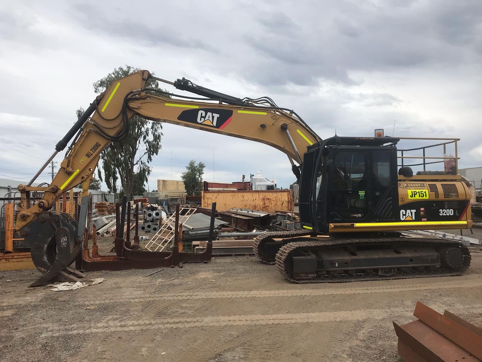 Mine Site Cleanup Excavator
